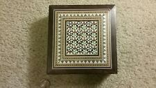 Mosaic Inlaid Wooden Box with Felt Lining