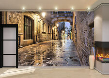 Narrow Street in Barcelona Wall Mural Photo Wallpaper GIANT WALL DECOR