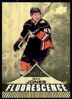 2019-20 UD Series 2 Fluorescence Gold # F-5 Max Jones - Anaheim Ducks