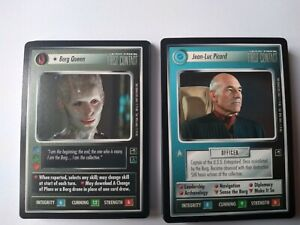 Star Trek ccg M/NM First Contact complete 50 card rare set - Borg Queen / Picard