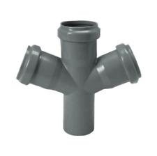 BRAGA PER TUBI TUBO PVC SCARICO INNESTO DOPPIA 67° DIAMETRO 100 X 100 X 100 MM