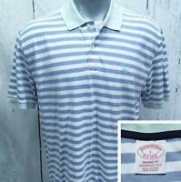 BROOKS BROTHERS L Large Original Fit (runs slim) Polo Style S/S Shirt Blue +