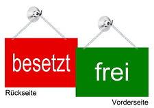 Wendeschild-ftrei-besetzt--15 x 10 cm Alu-Verbund-Schild-2-farbig-Türschild-TOP