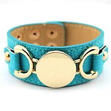 LB1596 Fashion Leather Bracelets Blank Monogram Open Cuff Bangle Bracelets Women