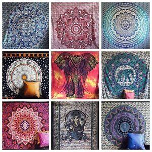 Large Indian Tapestry Wall Hanging Mandala Boho Hippie Gypsy Bedspread Blanket