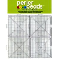 Perler Beads Large Clear Square Pegboards