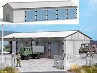 Busch 9608 Fahrzeughalle Lagerhalle Werkstatt Feuerwehr Militär Bausatz H0 Neu