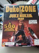 DUKE ZONE FOR DUKE NUKEM 3D NEW SEALED WIZARD WORKS PC CD 3D 500 LEVELS RARE EDI