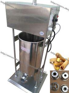10L/12L/15L Heavy Duty Electric Auto Spanish Donut Churrera Churro Machine Maker