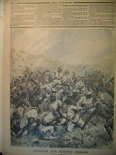 AFRIQUE COLONIALE DESTRUCTION EXPEDITION ALLEMANDE LE PETIT JOURNAL 1891