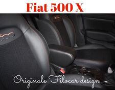 Bracciolo Fiat 500 X con cuciture bronzo Regolabile Produttore Filocar Design