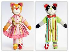 """26"""" long CAT/Racoon SOFT Toys SEWING PATTERN McCALLS 6980 Removable Clothes Xmas"""