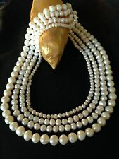 collier perles de culture de 4 rangs