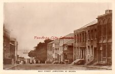 Vintage Postcard RPPC Main Street Jamestown St Helena Real Photo