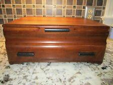 Beautiful Wood Oneida Kenized Silverware flatware storage chest with drawer