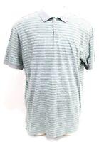 Patagonia Men's Casual Polo Shirt Size 2XL Striped Green Gray
