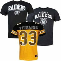Team Apparel NFL Raiders Staple Bolton Coach Classic Mens T-Shirts Steelers UA53