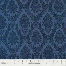 Gone With the Wind BLUE DAMASK Blender Coordinate TOT Fabric By the FQ - 1/4 YD