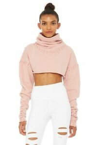 New Alo Yoga Splice Long Sleeve Crop Top in Nectar Size M Retail $142
