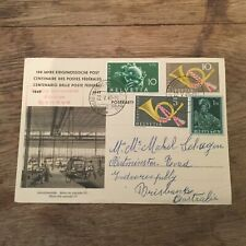 SWITZERLAND 1949 U.P.U FDC  to Australia *£1 RES** (B9)