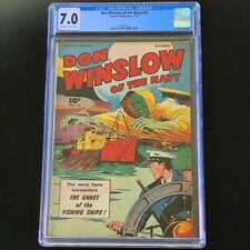 Don Winslow of the Navy #52 (Fawcett 1947) 💥 CGC 7.0 💥 Rare Golden Age Horror!