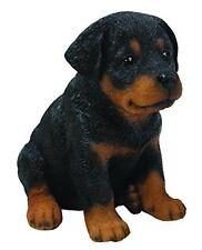 Sitting ROTTWEILER Puppy Dog - Life Like Figurine Statue Home / Garden NEW