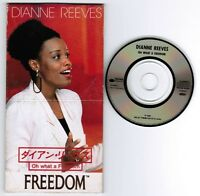 """DIANNE REEVES Oh What A Freedom JAPAN PROMO-ONLY 3"""" CD DIANNE-1"""