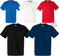 T-shirt Uomo + Taschino FRUIT OF THE LOOM S M L XL XXL  Maglia Corta Pesante New