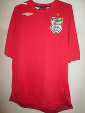 England wc 2006 red away Football Shirt Size  Large /19564