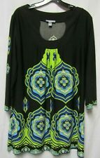 New listing FOREVER FASHION top shirt blouse XL 12/14 Bust 42  'liquid fabric' TUNIC style