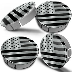4x 60mm / 55mm Universal Wheel Hub Cover Center Rim Caps Car USA American Flag