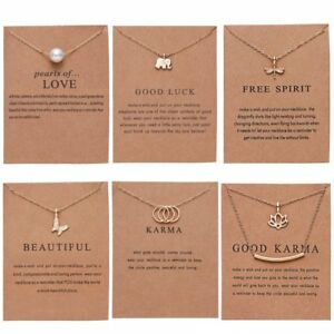 Gold Simple Pearl Bar Dragonfly Butterfly Pendant Necklace Women Chain Jewelry