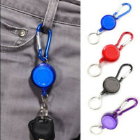 Retractable Key Chain Badge Reel - Recoil Carabiner ID Ski Pass Holder