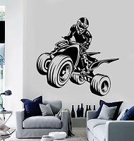 Vinyl Wall Decal Quad Bike ATV Racing Rider Extreme Sports Stickers (ig4550)