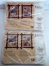 Lot of 2 Creative Circle Cross Stitch Kits  #1689 Clothesline #1690 Cozy Kitchen
