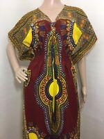 Vintage 80s Dashiki Maxi Dress Small Medium Large