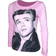 James Dean Womens Ladies Girls Long Sleeve Pink T-Shirt Size X-Large XL NEW!