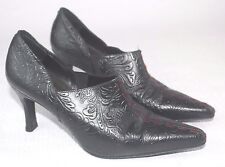 VERY RARE CALZADOS MONZO Womens Bleack Embossed Leater Shoes Sz 7