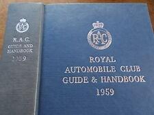 Vintage RAC Royal Automobile Club Guide & Handbook 1959 Advertisements Index