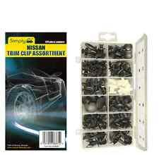 Simplemente Marca Nissan coche Puerta Sombrero parachoques Trim Clips Surtido Kit Pack