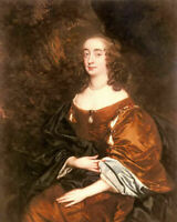 Oil painting Sir Peter Lely - portrait of elizabeth countess of cork noble lady