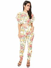 NAKED wardrobe Spring Fling Jogger Set Kylie Jenner Kim Kardashian Asos FLORAL S