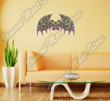 Bat Abstract Art Design Colorful Rainbow Wall Sticker Room Interior Decor 25X16""
