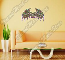"Bat Abstract Art Design Colorful Rainbow Wall Sticker Room Interior Decor 25X16"""