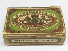 Vintage Antique D. LEONARDT & Co. GOTHIC STEEL PEN NIBS BOX Birmingham England