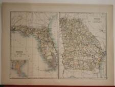 FLORIDA GEORGIA UNITED STATES SECOND HALF 19TH CENTURY ANONYMOUS ANTIQUE MAP