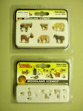 Woodland Scenics N scale #A2141 and A2140 animal details