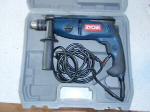 """Ryobi D552H 1/2"""" Corded, 2 Speed, Reversible, Electric Hammer Drill w Case"""