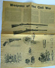 Weapons of the Civil War on Antiqued Parchment 1977 Reproduction