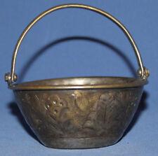 Vintage Small Metal Floral Basket
